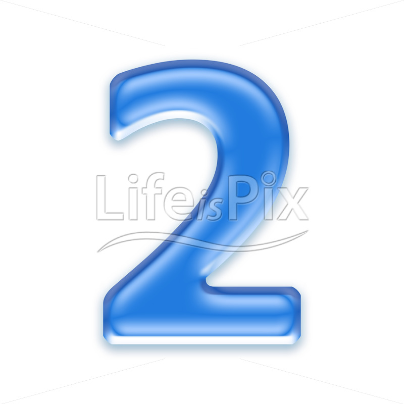 Blue aqua two digit on white background  – 2 – Royalty free stock photos, illustrations and 3d letters fonts