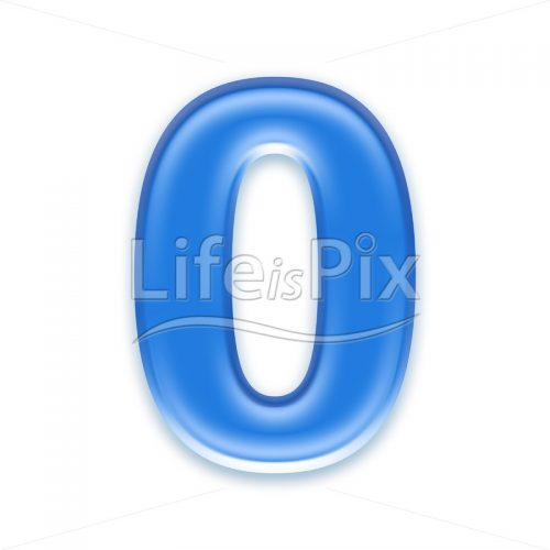 Blue aqua zero digit on white background  – 0 – Royalty free stock photos, illustrations and 3d letters fonts