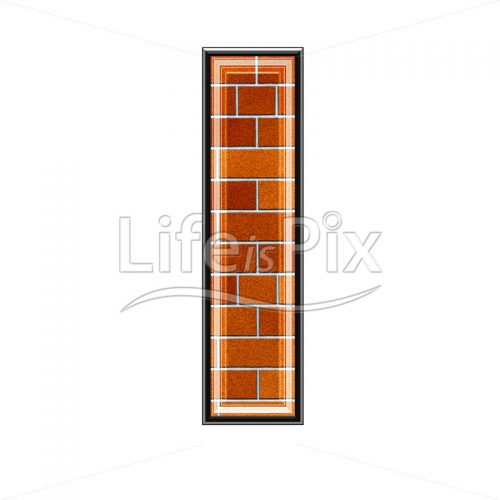 Brick letter isolated on white background – small L – Royalty free stock photos, illustrations and 3d letters fonts