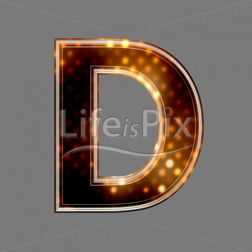 Christmas letter D with glowing light texture – Royalty free stock photos, illustrations and 3d letters fonts