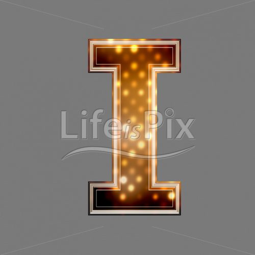 Christmas letter I with glowing light texture – Royalty free stock photos, illustrations and 3d letters fonts