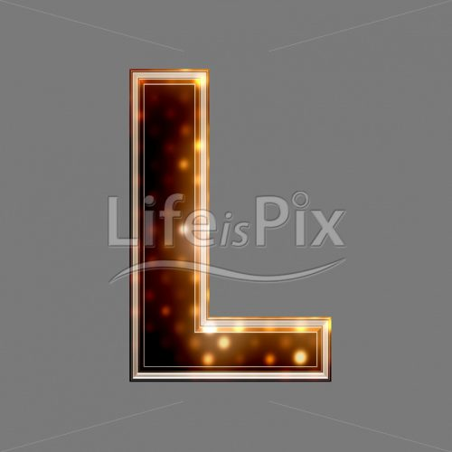Christmas letter L with glowing light texture – Royalty free stock photos, illustrations and 3d letters fonts