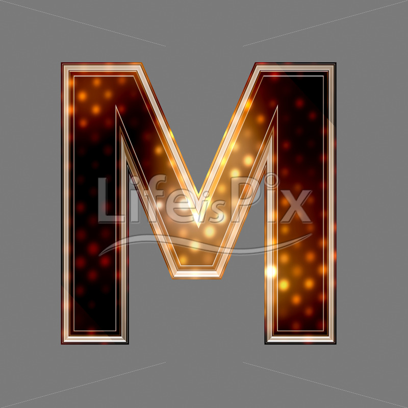 Christmas letter M with glowing light texture – Royalty free stock photos, illustrations and 3d letters fonts