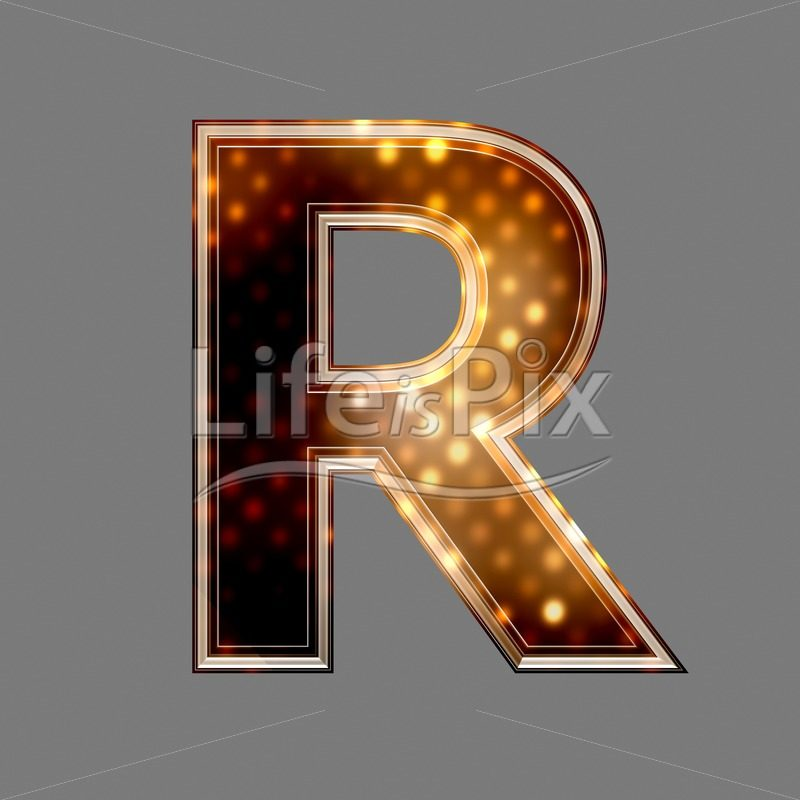 Christmas letter R with glowing light texture – Royalty free stock photos, illustrations and 3d letters fonts