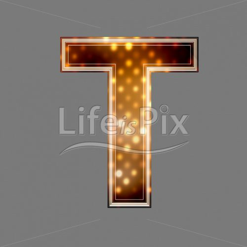 Christmas letter T with glowing light texture – Royalty free stock photos, illustrations and 3d letters fonts