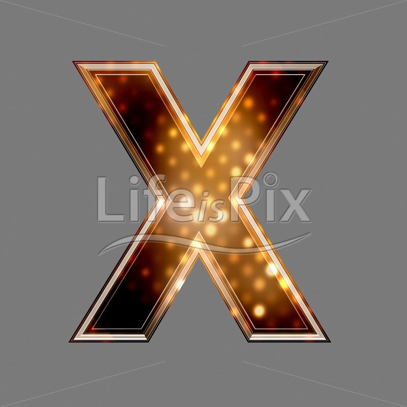 Christmas letter X with glowing light texture – Royalty free stock photos, illustrations and 3d letters fonts