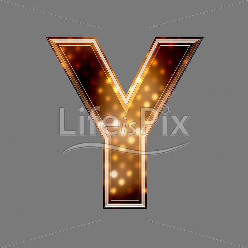 Christmas letter Y with glowing light texture – Royalty free stock photos, illustrations and 3d letters fonts