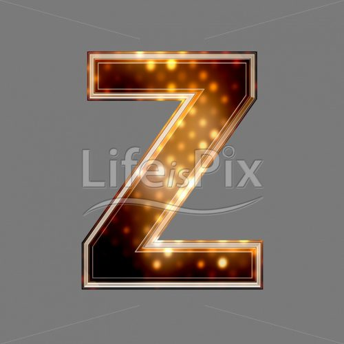 Christmas letter Z with glowing light texture – Royalty free stock photos, illustrations and 3d letters fonts