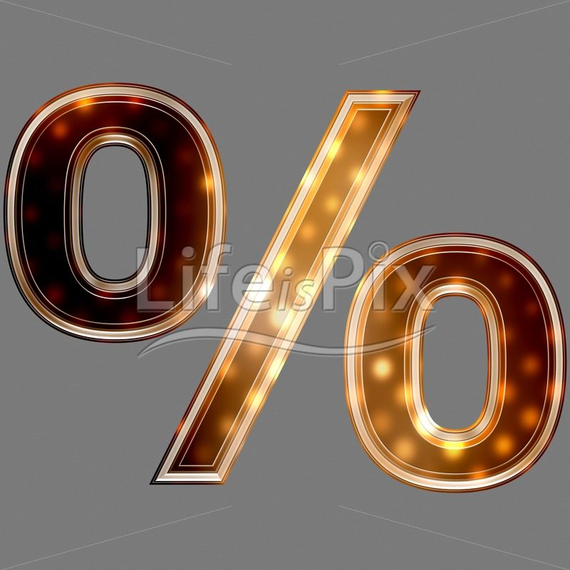 Christmas percent sign with glowing light texture – Royalty free stock photos, illustrations and 3d letters fonts