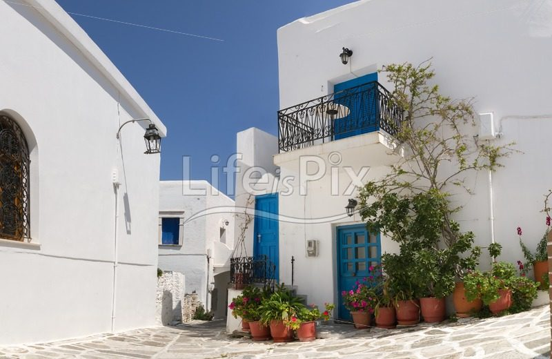 Classical greek street - Royalty free stock photos, illustrations and 3d letters fonts