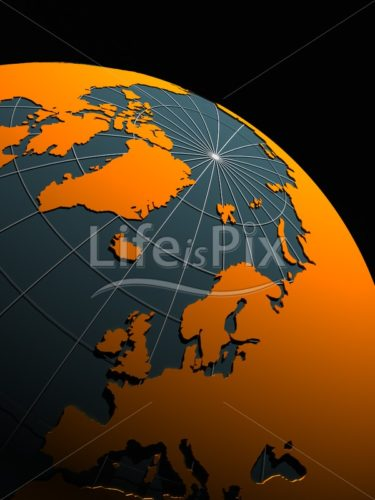 Earth isolated on black background - Royalty free stock photos, illustrations and 3d letters fonts
