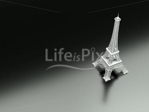 Eiffel Tower – 3d illustration - Royalty free stock photos, illustrations and 3d letters fonts