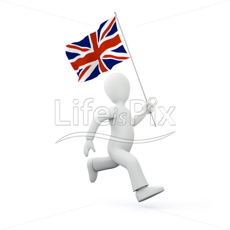 Holding a flag of the united kingdom – Royalty free stock photos, illustrations and 3d letters fonts