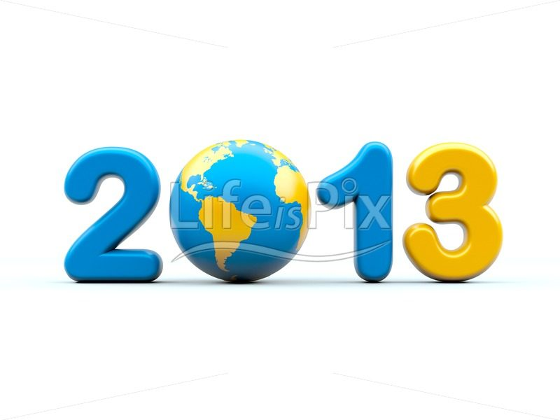 New year 2013 - Royalty free stock photos, illustrations and 3d letters fonts