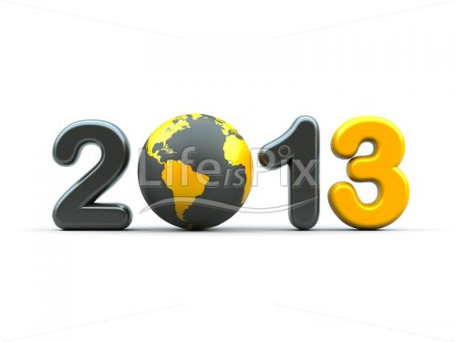 New year 2013 – 3d illustration - Royalty free stock photos, illustrations and 3d letters fonts