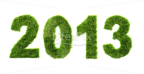 New year 2013 – ecology concept – Royalty free stock photos, illustrations and 3d letters fonts