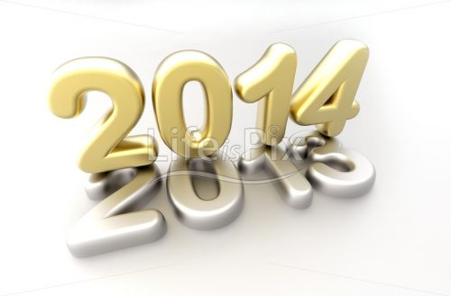 New year 2014 concept – 3d render – Royalty free stock photos, illustrations and 3d letters fonts