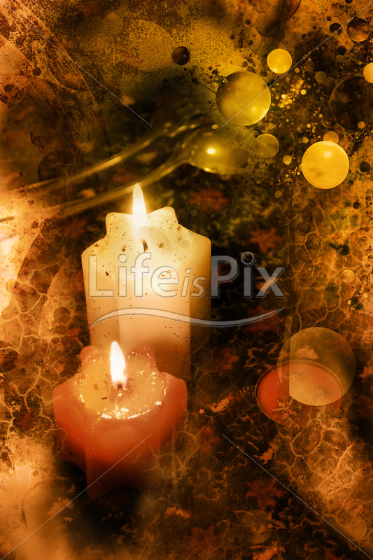 New year candles – Royalty free stock photos, illustrations and 3d letters fonts