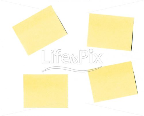 Post-it isolated on white background - Royalty free stock photos, illustrations and 3d letters fonts