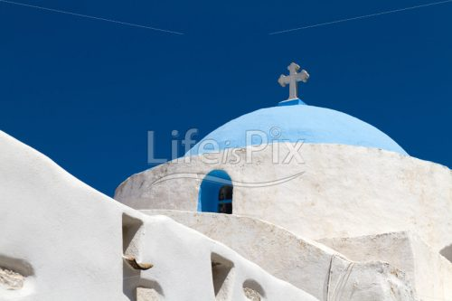 Typical church in Greece - Royalty free stock photos, illustrations and 3d letters fonts