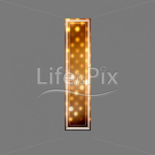 Xmas letter with glowing light texture – l – Royalty free stock photos, illustrations and 3d letters fonts