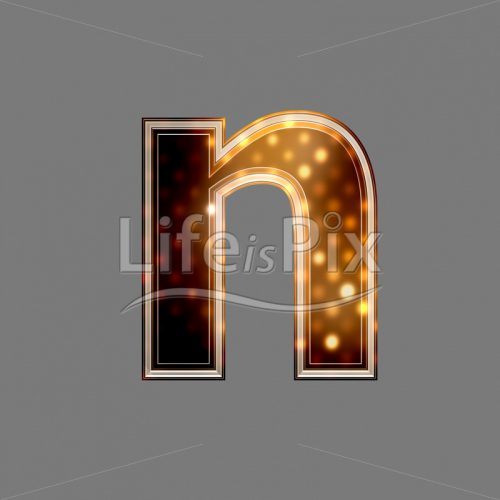 Xmas letter with glowing light texture – n – Royalty free stock photos, illustrations and 3d letters fonts