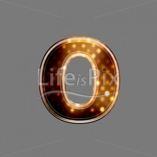 Xmas letter with glowing light texture – o – Royalty free stock photos, illustrations and 3d letters fonts