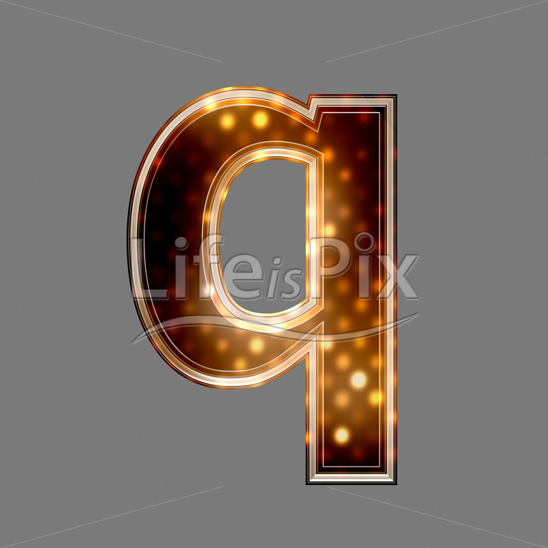 Xmas letter with glowing light texture – q – Royalty free stock photos, illustrations and 3d letters fonts
