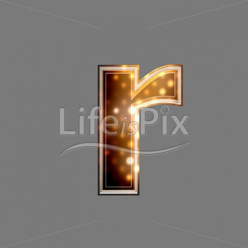 Xmas letter with glowing light texture – r – Royalty free stock photos, illustrations and 3d letters fonts