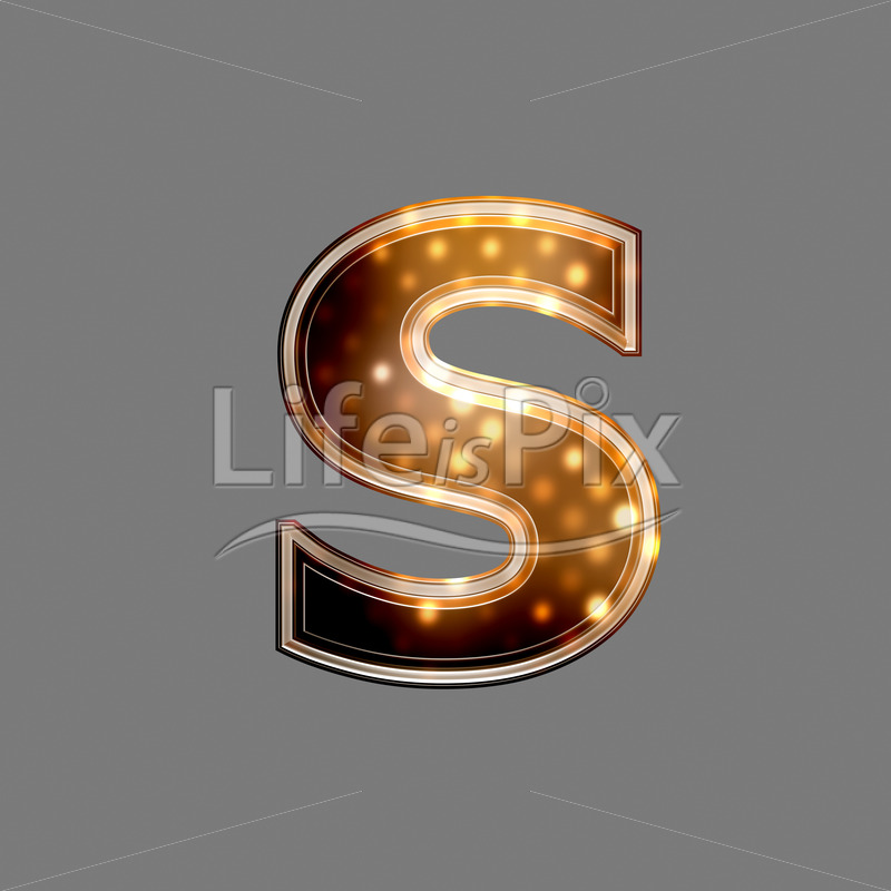 Xmas letter with glowing light texture – s – Royalty free stock photos, illustrations and 3d letters fonts
