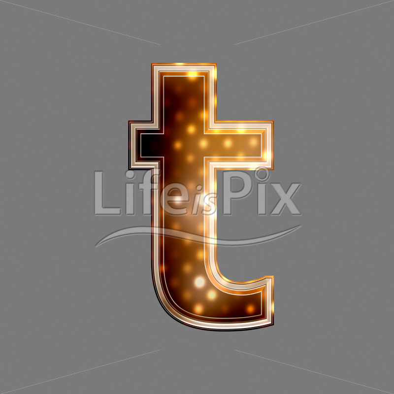 Xmas letter with glowing light texture – t – Royalty free stock photos, illustrations and 3d letters fonts