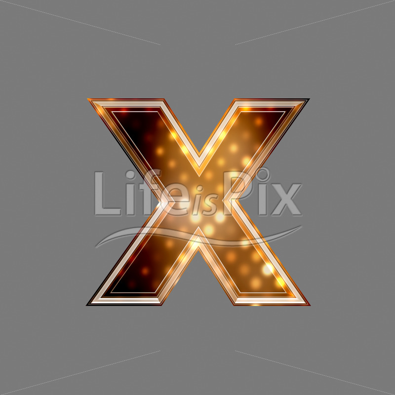 Xmas letter with glowing light texture – x – Royalty free stock photos, illustrations and 3d letters fonts