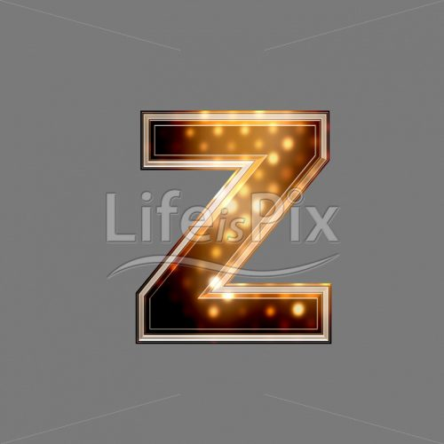 Xmas letter with glowing light texture – z – Royalty free stock photos, illustrations and 3d letters fonts