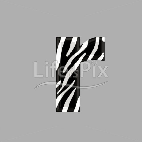 Zebra font – lower case r – 3d illustration – Royalty free stock photos, illustrations and 3d letters fonts