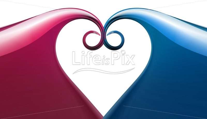 abstract heart - Royalty free stock photos, illustrations and 3d letters fonts