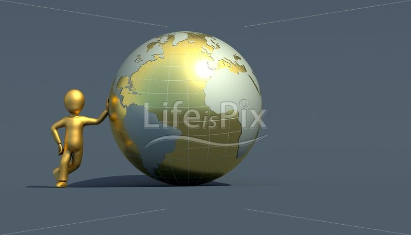 character with golden globe – Royalty free stock photos, illustrations and 3d letters fonts