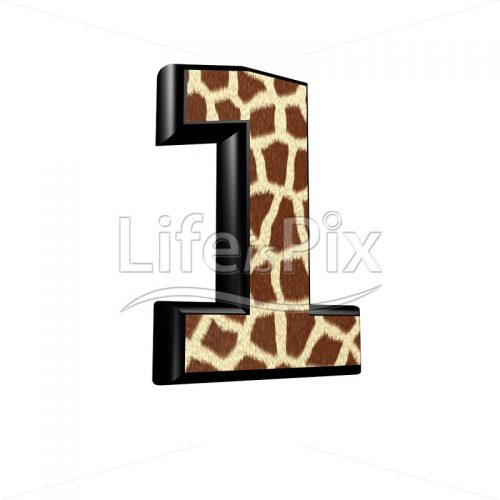 digit  with giraffe fur texture – 1 – Royalty free stock photos, illustrations and 3d letters fonts