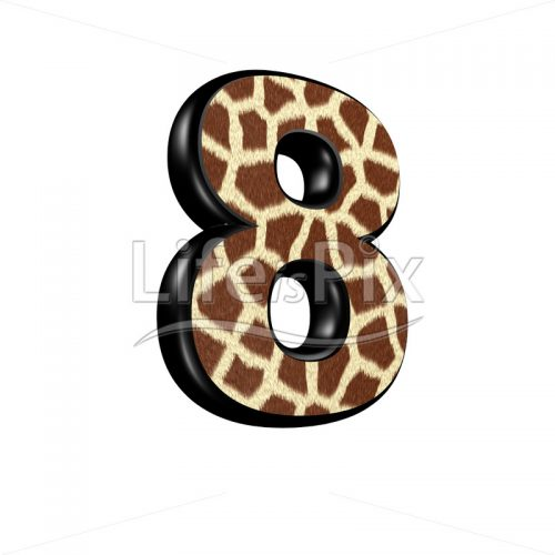 digit with giraffe fur texture – 8 – Royalty free stock photos, illustrations and 3d letters fonts