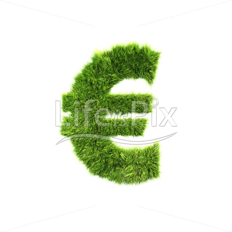 grass currency sign isolated on a white background – euro – Royalty free stock photos, illustrations and 3d letters fonts