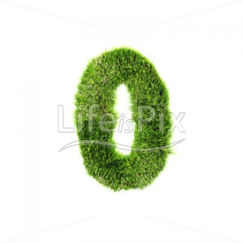 grass digit isolated on a white background – 0 – Royalty free stock photos, illustrations and 3d letters fonts