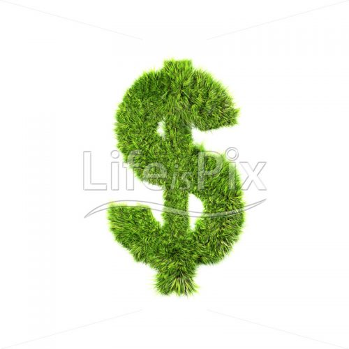 grass dollar currency sign – Royalty free stock photos, illustrations and 3d letters fonts