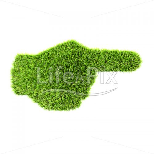 grass hand sign isolated on a white background – Royalty free stock photos, illustrations and 3d letters fonts
