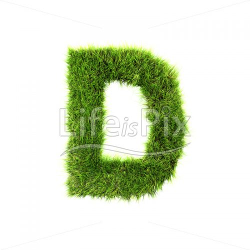 grass letter isolated on white background – D – Royalty free stock photos, illustrations and 3d letters fonts