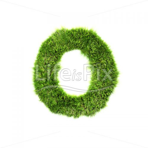 grass letter isolated on white background – O – Royalty free stock photos, illustrations and 3d letters fonts