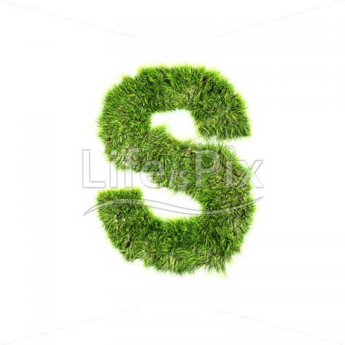 grass letter isolated on white background – S – Royalty free stock photos, illustrations and 3d letters fonts