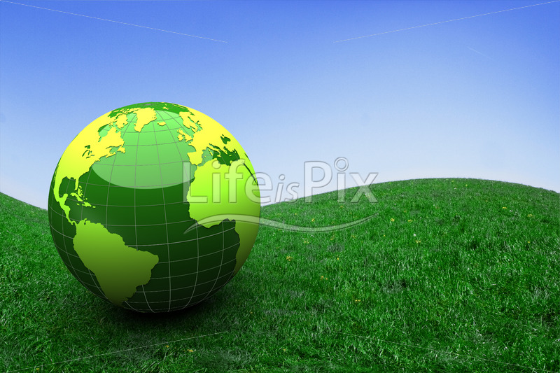 green globe in nature - Royalty free stock photos, illustrations and 3d letters fonts