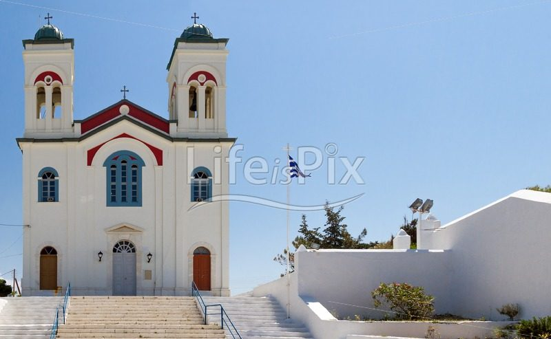 main church of naoussa on the island of paros greece – Royalty free stock photos, illustrations and 3d letters fonts