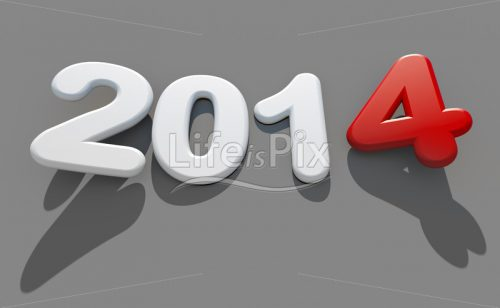 new year 2014 – 3d logo - Royalty free stock photos, illustrations and 3d letters fonts