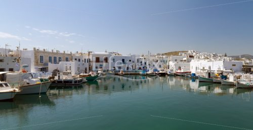 port of Naoussa,  Paros island , Greece - Royalty free stock photos, illustrations and 3d letters fonts