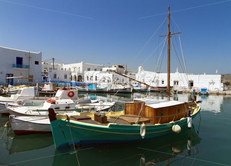 port of Parikia – Paros island – Greece - Royalty free stock photos, illustrations and 3d letters fonts